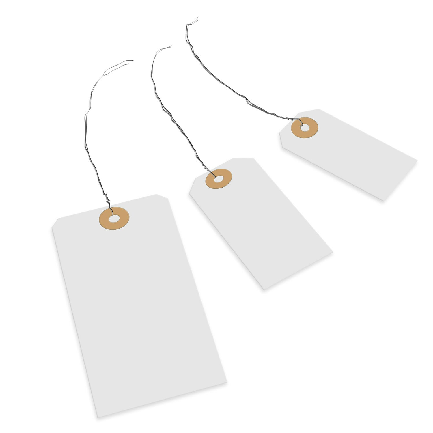 Transpal® 82 x 41mm White Wired Tags