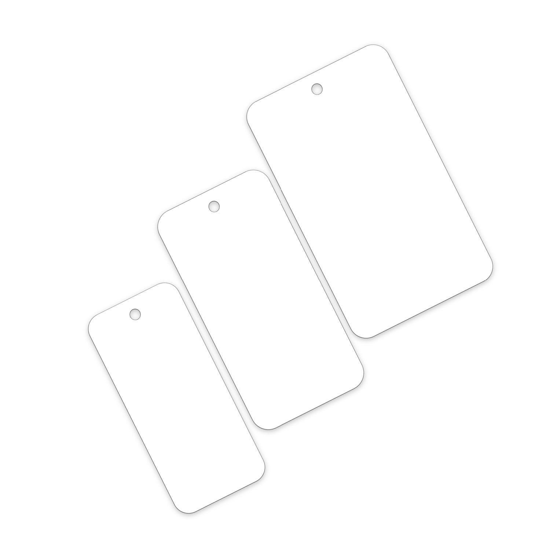 Transpal® 120 x 70mm White Plastic Tags