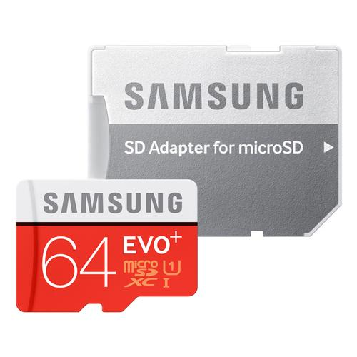 Samsung 64GB EVO Plus Micro SD Card (SDXC) + Adapter - 80MB/s