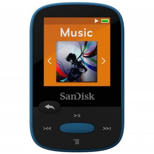 SanDisk 8GB Clip Sport MP3 Player - Blau