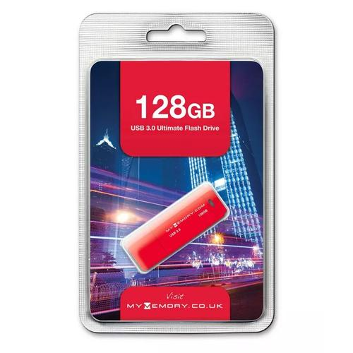 MyMemory 128GB USB 3.0 Flash Drive 25MB/s - Red