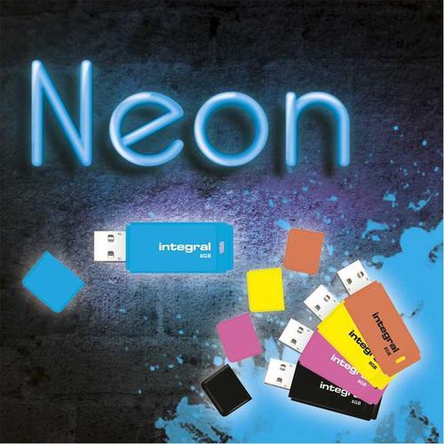 Integral 8GB Neon USB Flash Drives - 10 Pack