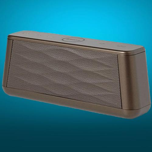 Groov-e Sound Wave Wireless Bluetooth Speaker with Mic - Brown