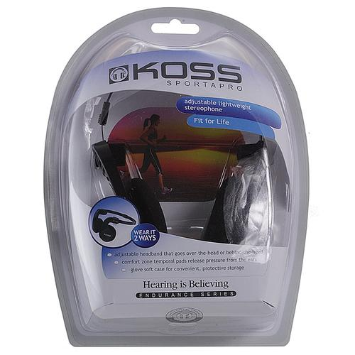 Koss Sporta Pro On-Ear Portable Headphones - Black