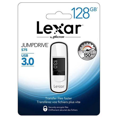 Lexar 128GB JumpDrive S75 USB 3.0 Flash Drive - 150MB/s