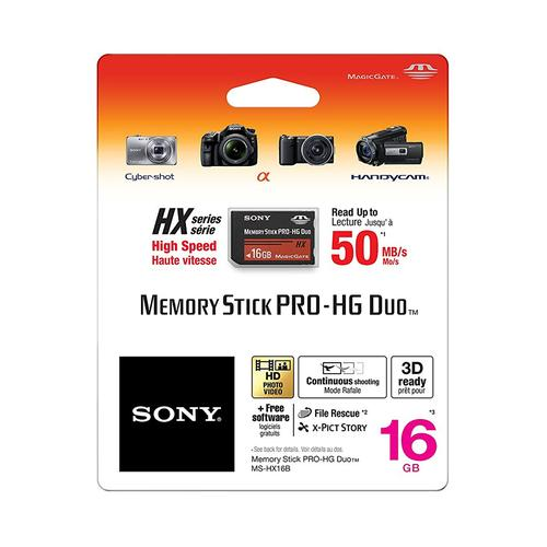 Sony 16GB Memory Stick PRO-HG DUO - 50MB/s
