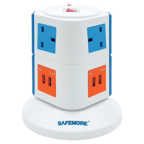 Safemore Vertical Power Stacker Origin Series - Orange/Blue