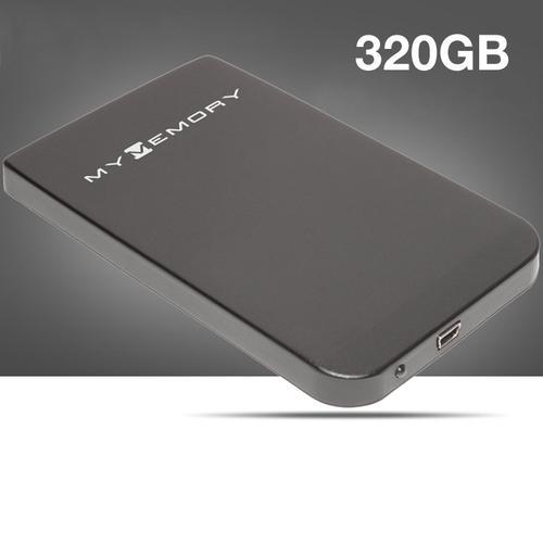 "MyMemory 320GB USB 2.5"" Portable Hard Drive - Black"