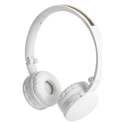 Groov-e Wave Wireless Bluetooth Headphones with Mic - White