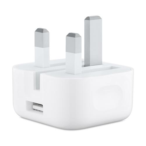 Apple 5W USB Power Adapter with Folding Pins - White (Official)