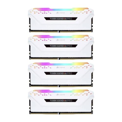 Corsair Vengeance RGB PRO 32GB (4x 8GB) Memory Kit PC 3000MHz DDR4 DRAM DIMM C15 - White