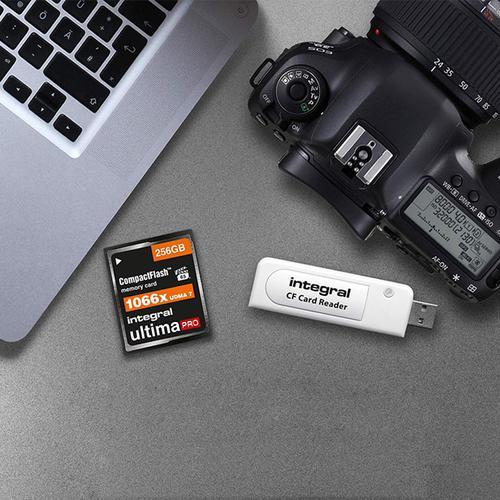 Integral Single Slot USB Compact Flash Card Reader