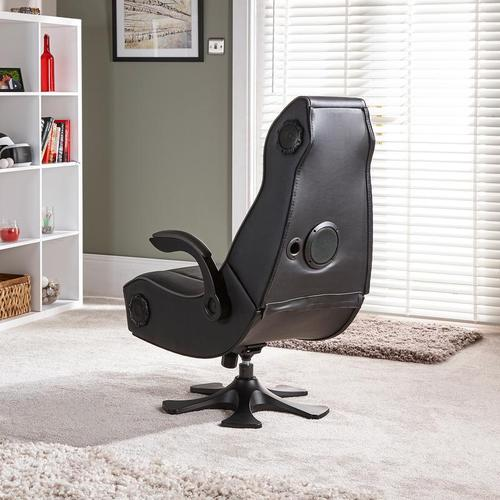 X Rocker PlayStation Infiniti+ 4.1 High Back Vinyl Gaming Chair with Bluetooth Speakers - Black