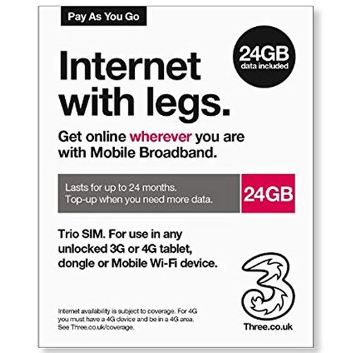 3 24GB Trio MBB PAYG Sim Pack