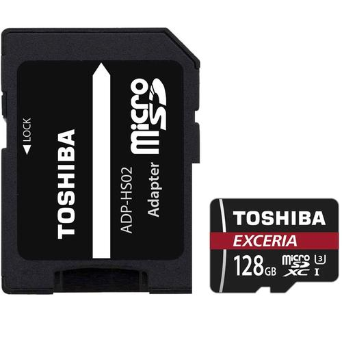 Toshiba 128GB Exceria Micro SD card (SDXC) UHS-I U3 + Adapter - 90MB/s