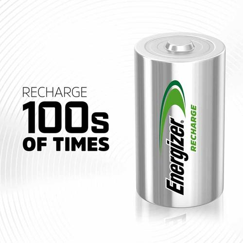 Energizer Accu 2500mAh D Rechargeable Batteries - 2 Pack