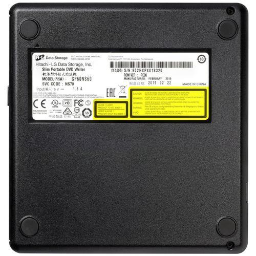 LG 8x USB 2.0 Portable Slim DVD-RW - Silver
