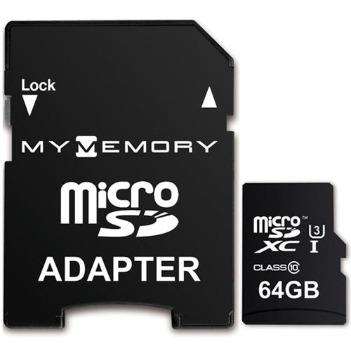 MyMemory 64GB PRO Micro SD Card (SDXC) UHS-I U3 + Adapter - 95MB/s