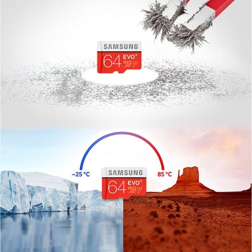 Samsung 64gb Evo Plus Micro Sd Card Sdxc Uhs I U3 Adapter 100mbs