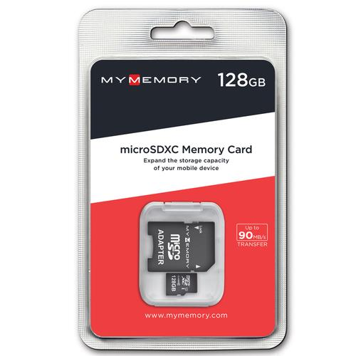 MyMemory 128GB Micro SD Card (SDXC) UHS-I U1 + Adapter - 90MB/s