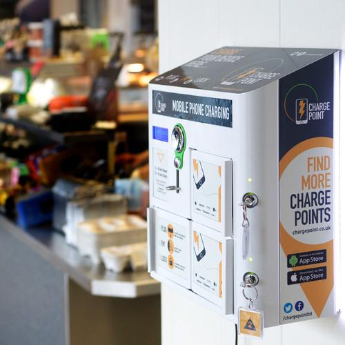 Charge Point Mobile Phone Charging Kiosk – Pay to Use (GBP)