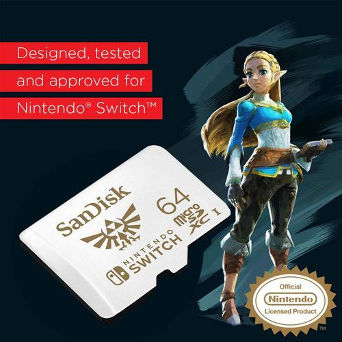 SanDisk 64GB Nintendo Switch Micro SD Card (SDXC) UHS-I U3 - 100MB/s