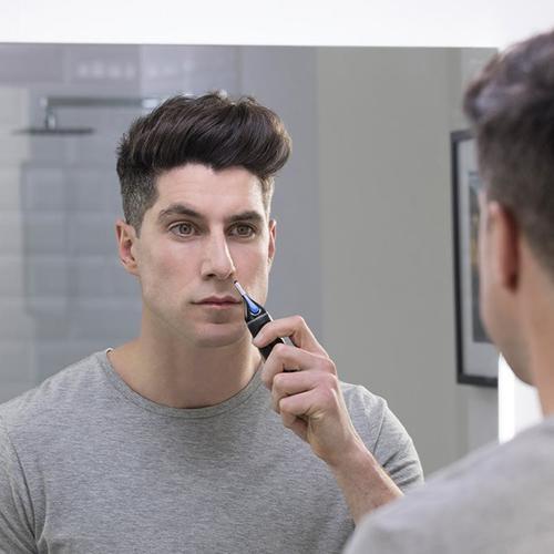 Remington Nase & Ohr Präzisions-Gesichtshaarschneider für Männer Duschfeste Nano-Serie RE-NE3850