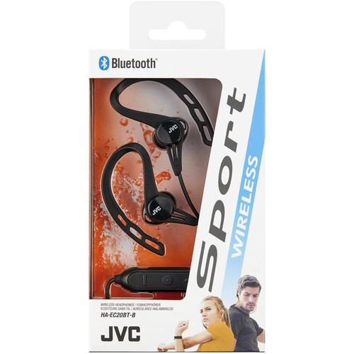 JVC Sports Wireless In Ear Headphones with Ear Clip - Black