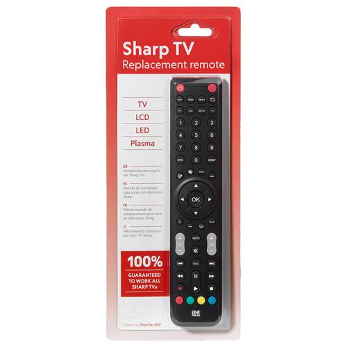 One For All Replacement Sharp TV Remote Control