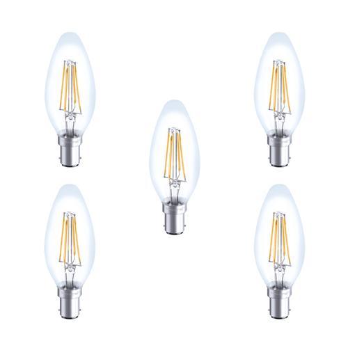 Integral LED Glaskolben B15 4W (36W) 2700K Nicht-Dimmbare Lampe - 5er Pack