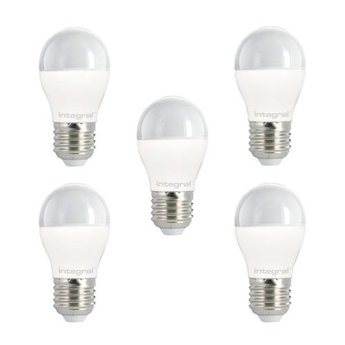 Integral LED Mini Globus E27 5.5W (40W) 2700K Nicht dimmbare Mattlampe - 5er Pack