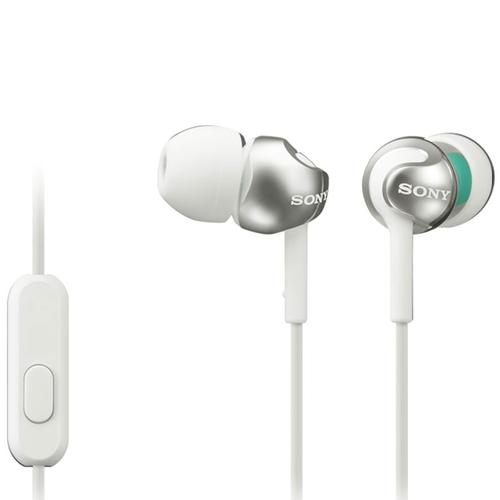 Sony Deep Bass In-Ear Headphones + Smartphone Control and Mic - Metallic White