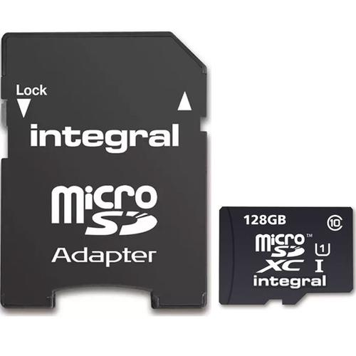 Integral 128GB Ultima PRO Micro SD Card (SDXC) UHS-I U1 + Adapter - 90MB/s