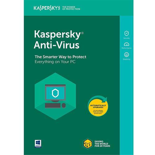 Kaspersky Anti-Virus 2018 3 Devices 1 Year