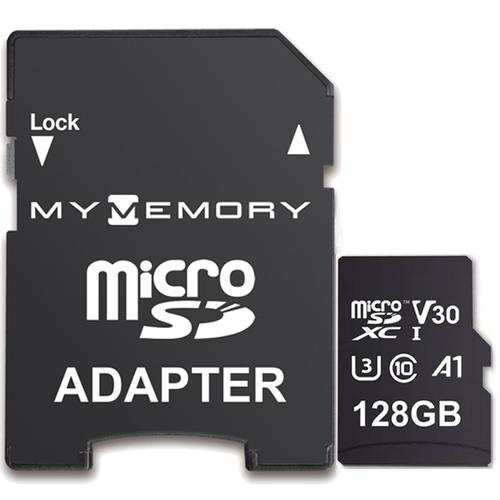 MyMemory 128 GB V30 PRO Micro SD (SDXC) A1 UHS-1 U3 + Adapter - 100 MB/s