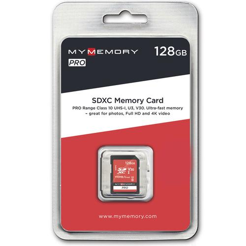 MyMemory 128GB V30 Premium High Speed SD Card (SDXC) UHS-1 U3 - 100MB/s