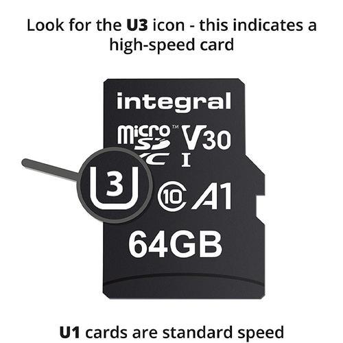 Integral 64 GB UltimaPRO V30 Premium Micro SD-Karte (SDXC) UHS-I U3 + Adapter - 100 MB / s