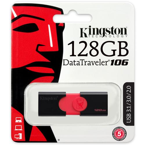 Kingston 128GB DataTraveler 106 USB 3.0 Flash Drive - 130MB/s