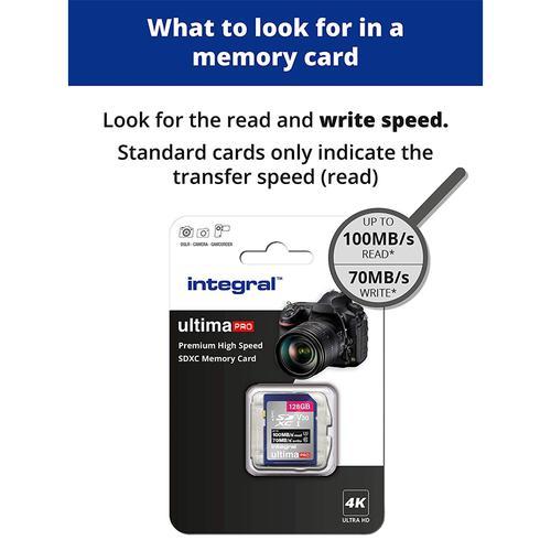 Integral 128GB UltimaPRO V30 Premium SD Card (SDXC) UHS-I U3 - 100MB/s