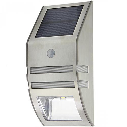 Solar PIR Sensor Outdoor LED Licht - Edelstahl