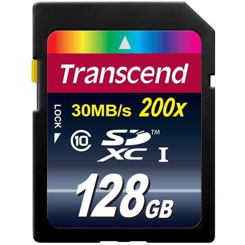 Transcend 128GB Premium SD Card (SDXC) UHS-I - 30MB/s