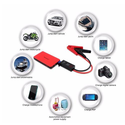 Powerseed Mini Boost 2A Car Jump Starter Portable Power Bank