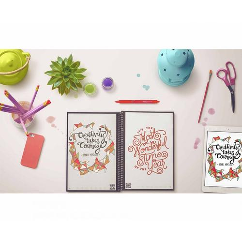 Rocketbook Everlast Smart Re-usable Notebook / Journal A5 - Infinity Black