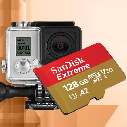 SanDisk 128GB Extreme A2 V30 Micro SD Card (SDXC) UHS-I U3 + Adapter- 160MB/s