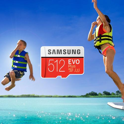 Samsung 512GB Evo Plus Micro SD Card (SDXC) UHS-I U3 + Adapter - 100MB/s