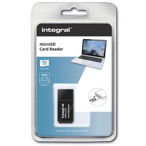 Integral USB 3.1 Micro SD Card Reader