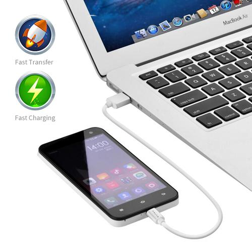 oneo Endurance Micro USB Data Charging Cable - 30cm (White)