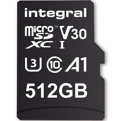 Integral 512GB UltimaPRO V30 Premium Micro SD Card (SDXC) UHS-I U3 + Adapter - 100MB/s