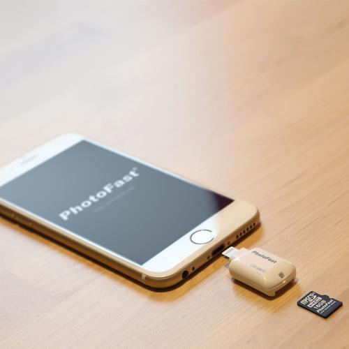 Photofast Apple Lightning to Micro SD Card Reader - White
