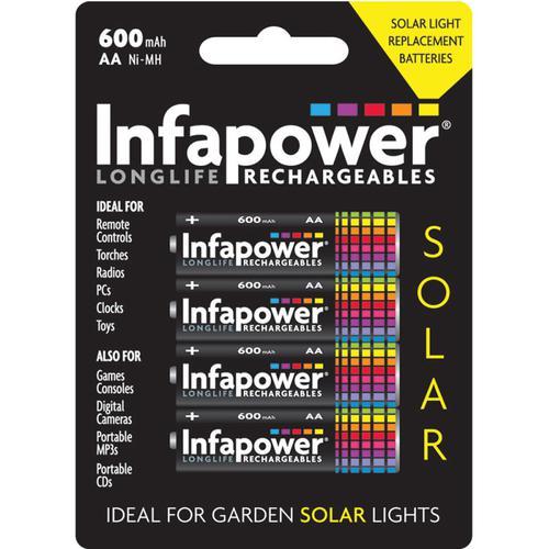 Infapower 600mAh AA Longlife Wiederaufladbare Batterien - 4er-Pack